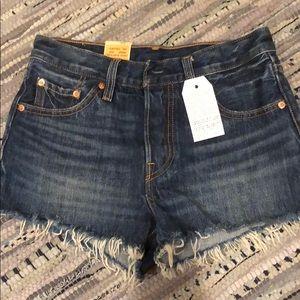 Levi's 501 Denim Cutoff Shorts Size 25 New